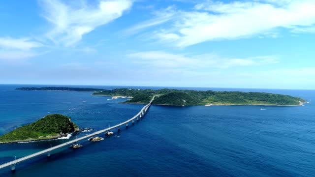 landscape of Tsunoshima Bridge in Japan video