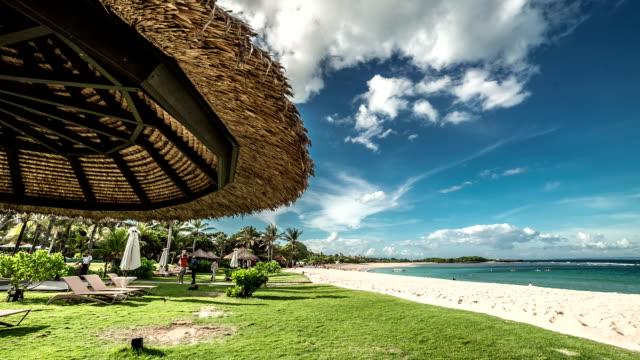 Paysage plage paradisiaque à Nusa Dua. FullHD Timelapse - Bali, Indonésie - Vidéo