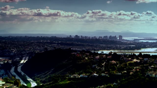 Landscape shot of downtown San Diego from Mount Soledad