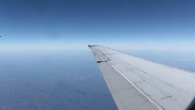 Landscape view from a plane - video
