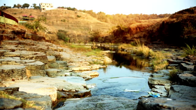 landscape view of patalpani waterfall location - madhya pradesh filmów i materiałów b-roll