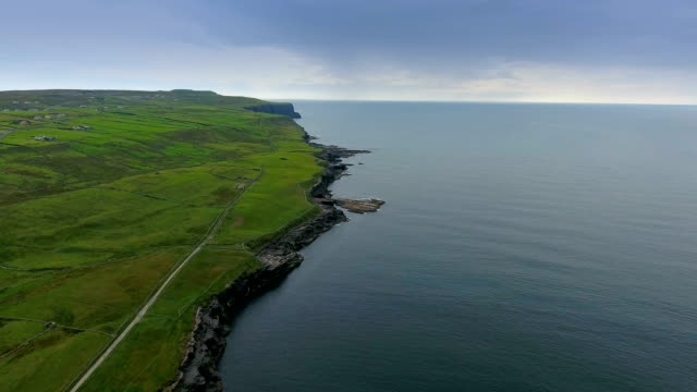 Landscape view of the sea fronting the Cliffs of Moher video