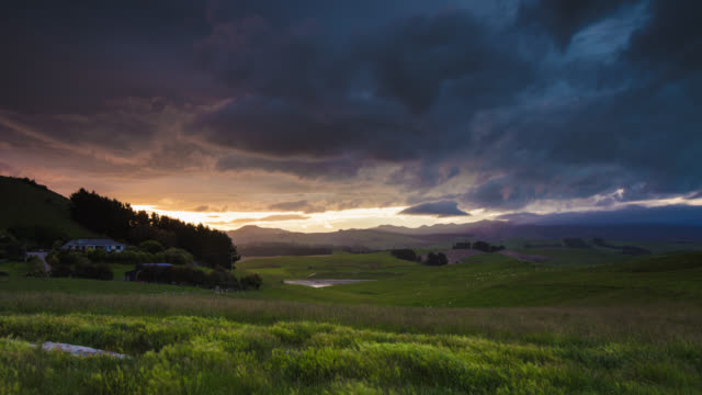 TIME LAPSE: Landscape with Dramatic Sky video