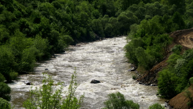 Landscapes of Mountains in Armenia. The Mountain River video