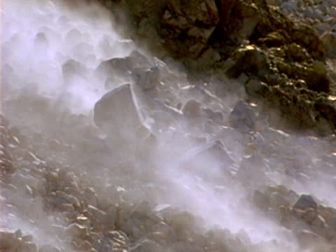 vidéos et rushes de glissement de terrain 05 - roc