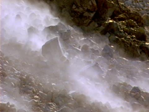 landslide 05 - 岩石 個影片檔及 b 捲影像