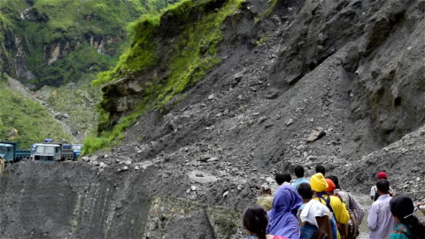 Landslide and Boulders rocks roll in india mountain Landslide and Boulders rocks roll in india mountain 2015 stock videos & royalty-free footage