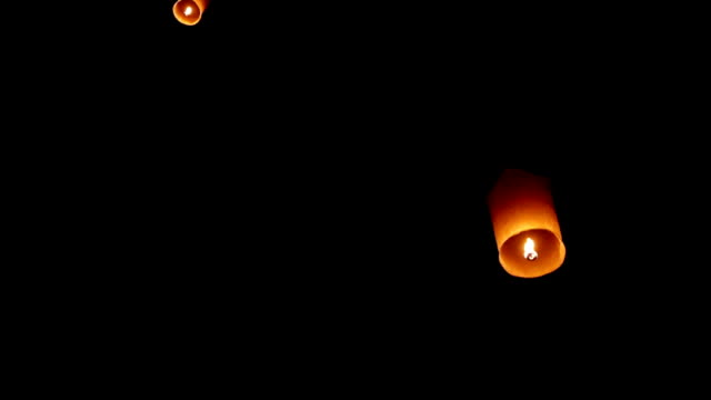 lantern in the sky - sky lantern stock videos and b-roll footage