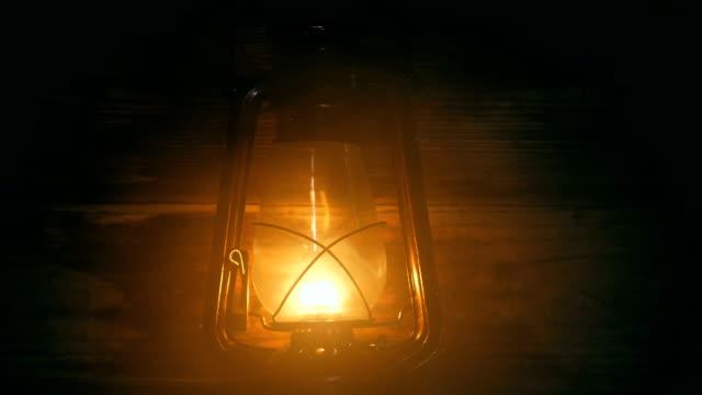 Lantern lamp at night