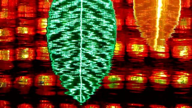 светильникам и лист reflections - new year стоковые видео и кадры b-roll
