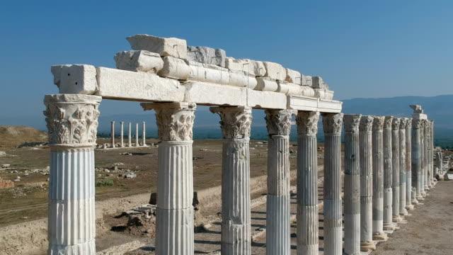 Laodikeia, Denizli, Turkey Ruins of ancient city Laodikeia dates back to 1st century BC. aegean turkey stock videos & royalty-free footage