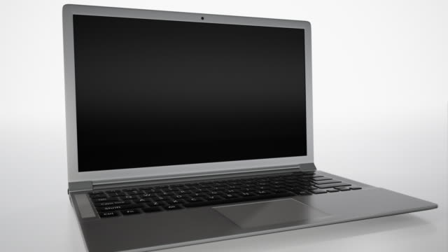 Laptop 4K with white background video