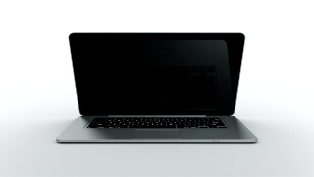 Laptop animation. THIN. White background. video