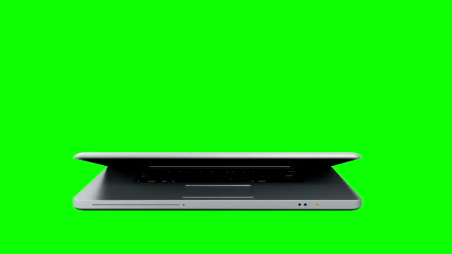Laptop animation with green screen.