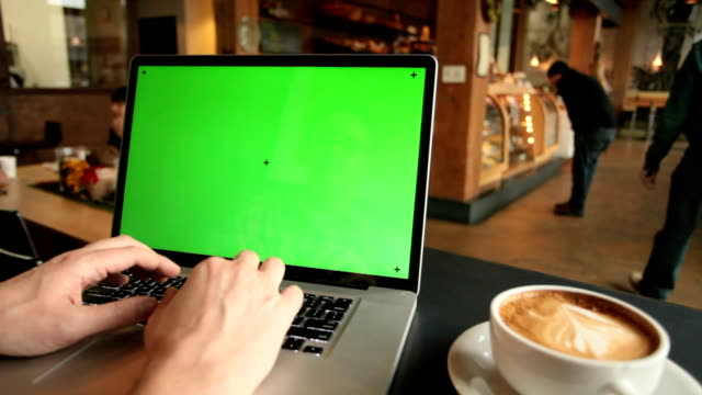 Laptop at Coffee Shop video