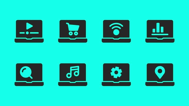 Laptop Icons - Vector Animate
