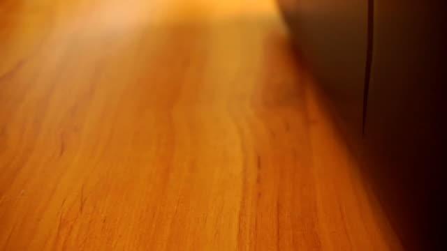 Laptop keyboard lighting up side view