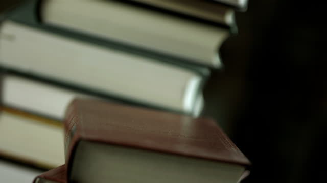 HD: Laptop Lying On A Stack Of Books video