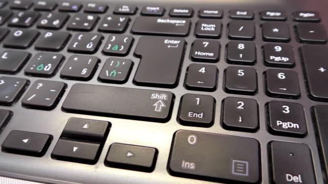 laptop, notebook, computer keyboard, closeup, detail - google стоковые видео и кадры b-roll