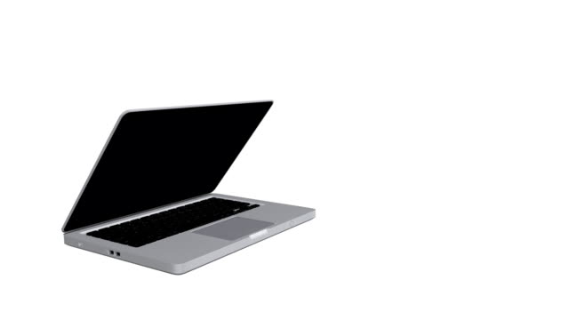 Laptop with an alpha channel (matte) video