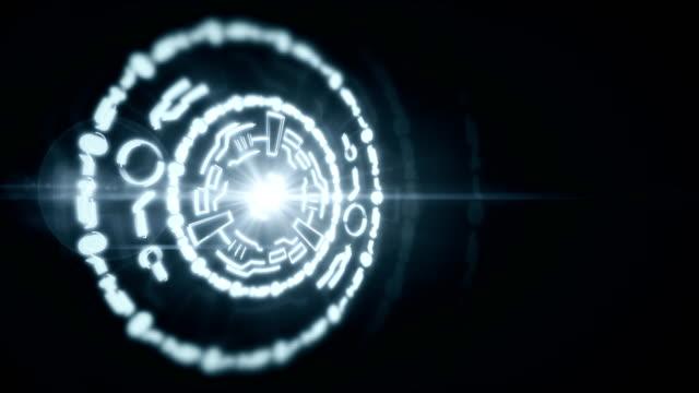 Grand hologramme circulaire abstraite, arrière-plan prêt à boucle - Vidéo
