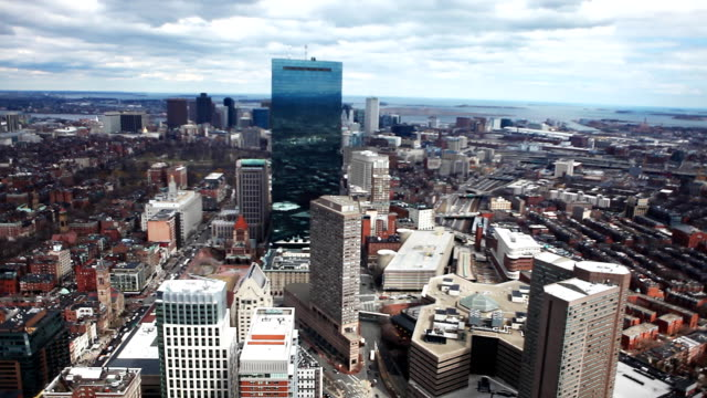Large aerial view of the city of Boston, Massachusetts video