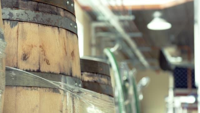 large booze barrel - cask video stock e b–roll