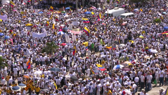 HD: Large crowd in Barranquilla HD1080i: High angle view on a large crowd of people attending the assembly in Barranquilla. Colombia. carnival celebration event stock videos & royalty-free footage