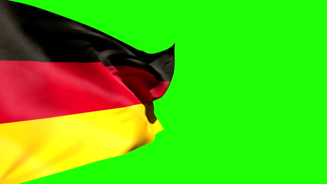Large germany national flag blowing video