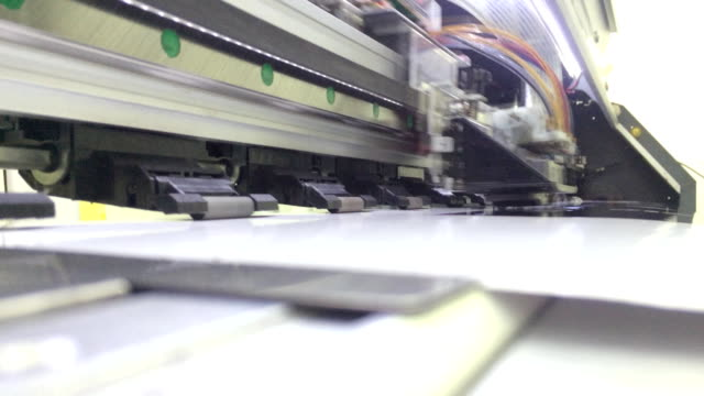 large inkjet printer working video