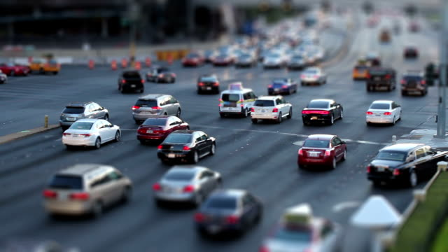 Large Intersection Tilt Shift video