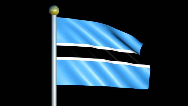 Large Looping Animated Flag of Botswana video