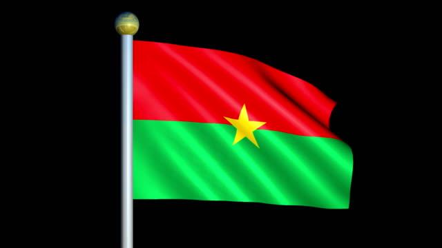Large Looping Animated Flag of Burkina Faso video