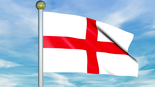Large Looping Animated Flag of England video
