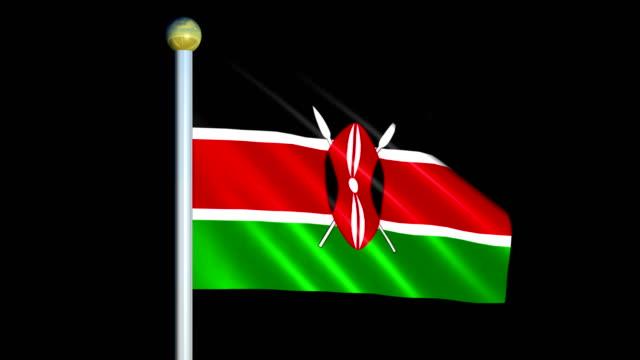 Large Looping Animated Flag of Kenya video