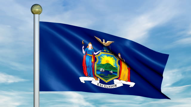 Large Looping Animated Flag of New York video