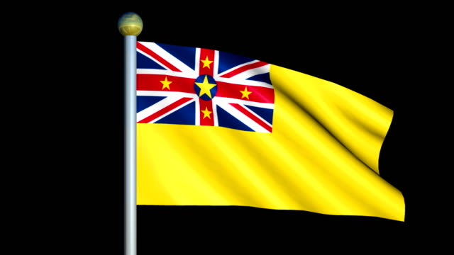 Large Looping Animated Flag of Niue video