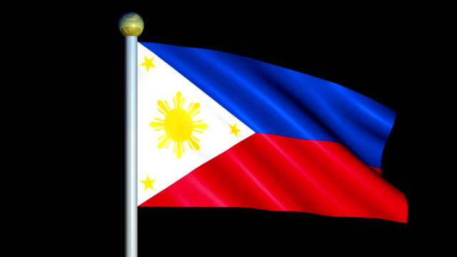 Large Looping Animated Flag of Philippines video