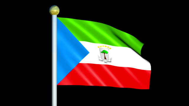 Large Looping Animated Flag of Republic of Equatorial Guinea video