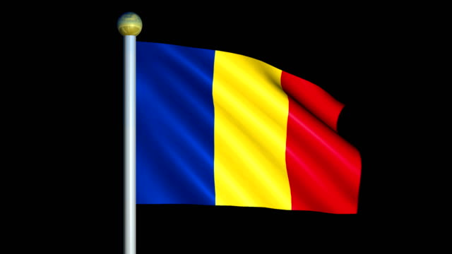 Large Looping Animated Flag of Romania video