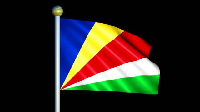 Large Looping Animated Flag of Seychelles Looping animation of a large flag of Seychelles indian ocean islands stock videos & royalty-free footage