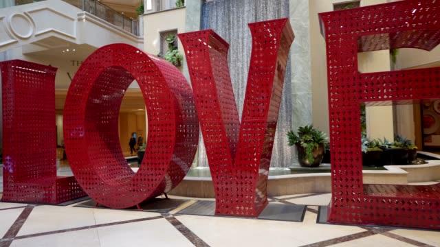 POV large love sign display video