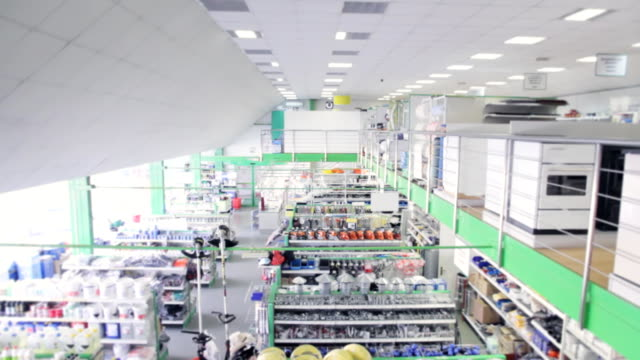 Large modern technical store video