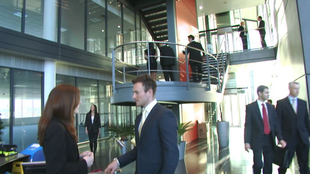 Large office foyer video
