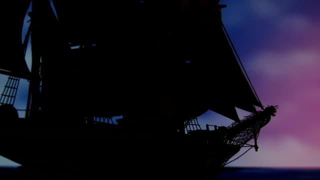大型帆船、古いのクローズアップ ビデオ