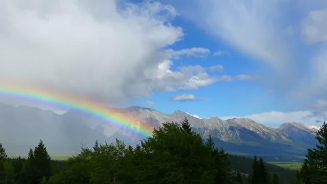 Large Rainbow over Banff National Park, Canada