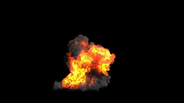 stockvideo's en b-roll-footage met grootschalige explosie gemaakt met fume fx met alpha - springen