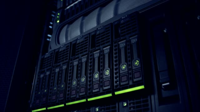 A large server room inside a cloud computing data center A large server room inside a cloud computing data center server room stock videos & royalty-free footage