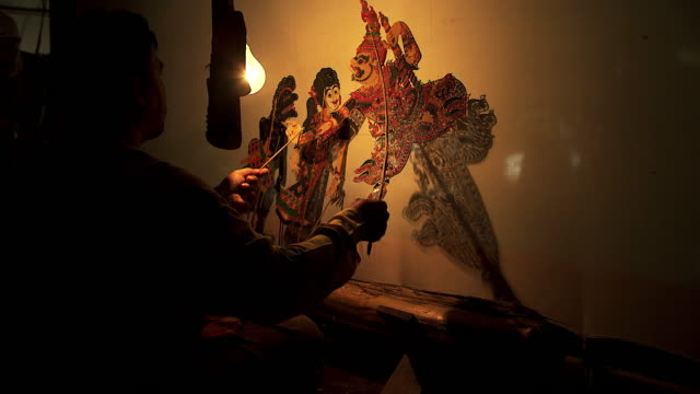 Large Shadow Play or Nang Yai is a performing. video