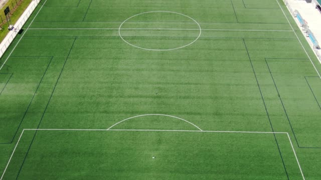 large soccer field as seen from above - football field stock videos & royalty-free footage